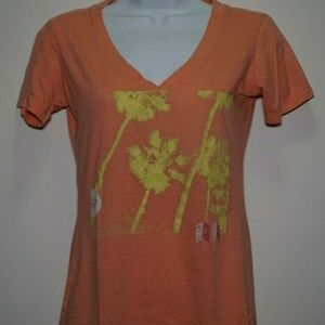 Woman's ROXY Coral T-Shirt Top Size Small